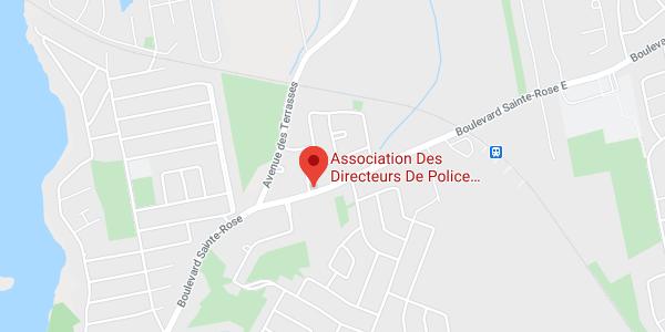 Google map : Association des Directeurs de Police du Québec